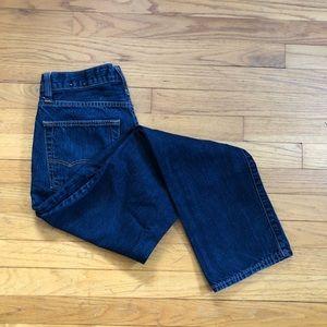 American Eagle men's dark wash slim straight jeans